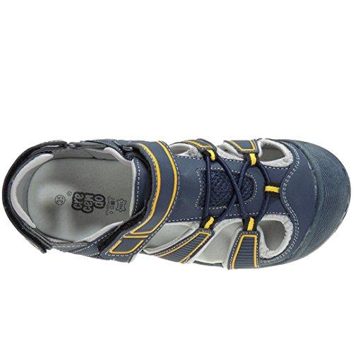 CRECENDO - Sandalia Deportiva Con Velcro - Modelo 1161 MARINO