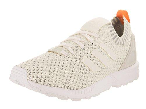 adidas Originals Women's ZX Flux PK W Running Shoe Chalk White/Granite, 10 M - Zx Adidas Womens