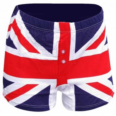 Mens Union Jack Boxer Shorts (Shorts Rock Boxer)