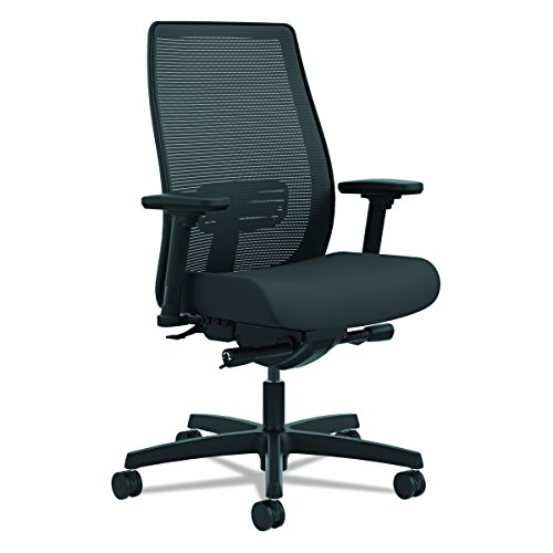 (HON Endorse Mid-Back Task Chair - Mesh Back Computer Chair for Office Desk, Black)