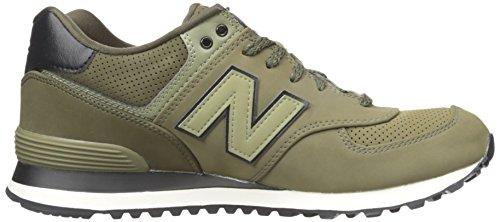 Nuovo Bilancia Uomo 574v1 Core Plus Sneaker Verde (oliva)