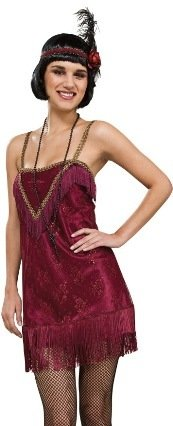 Womens Jazz Flapper Costumes (Sexy Retro Roaring 20s Flapper Jazz Halloween Costume M Womens US Medium (10-14))