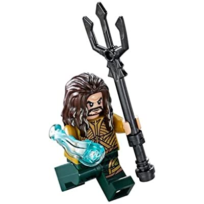 LEGO DC Super Heroes Justice League Minfigure - Aquaman with Trident (76085): Toys & Games