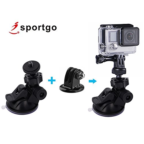 iSportgo Suction Cup Mount with 360° rotation design for GoPro Hero / Z-Edge Dash Cam / Compact Cameras - S80