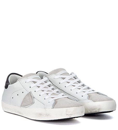 e Suede Paris Pelle Philippe Gris Sneaker Bianca Grigio Model Blanc in Y0T7CqwnC6