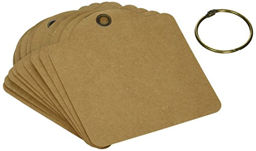 (Graphic 45 Square Tags-Kraft)