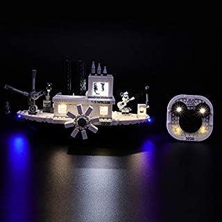 BRIKSMAX Led Lighting Kit for Disney Steamboat Willie - Compatible with Lego 21317 Building Blocks Model- Not Include The Lego Set