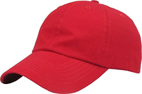 KB-LOW RED Classic Cotton Dad Ha...