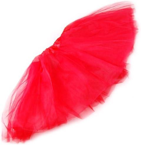 chinkyboo Falda tutú de Ballet para niña, Rojo: Amazon.es: Hogar
