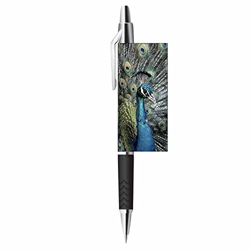 Peacock Writing Ink Pen - Wildlife Bird Nature Design - Stationery Gift - Office Business School Supplies Photo #2