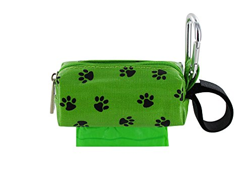 - Doggie Walk Bags Square Duffel Paw Print Bag, Green