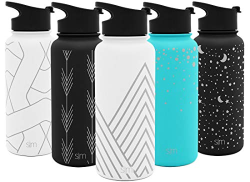 Pyramid Water Bottle - Simple Modern 22oz Summit Water Bottle - Stainless Steel Tumbler Metal Flask +2 Lids - Wide Mouth Double Wall Vacuum Insulated Leakproof Engraved: Pyramids