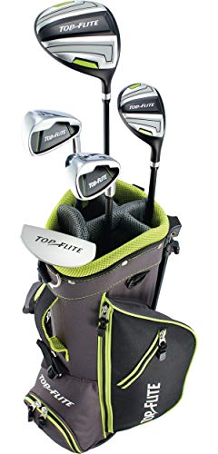Top Flite Jr. Young Boys Compete Golf Set - Age 5 to 9 Height 46-52'' - RH/LH (Ages 5-9 (46-52''), Right) ()