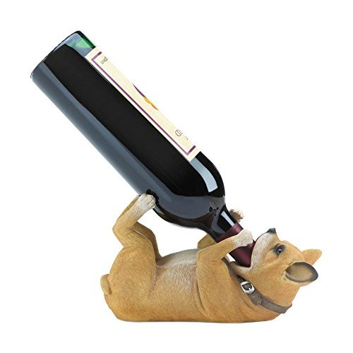 Accent Plus CHIHUAHUA WINE BOTTLE HOLDER (Holder Wine Glass Chandelier)