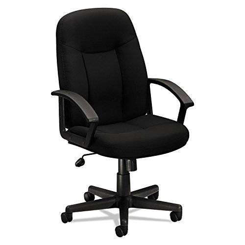 (HON VL601VA10 VL601 Series Executive High-Back Swivel/Tilt Chair, Black Fabric & Frame)