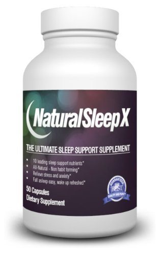 Natural Sleep X - The All-in-One Natural Sleep Aid - 50 Day Supply (Unique Blend of Melatonin, Herbal Extracts, Minerals and Amino Acids)