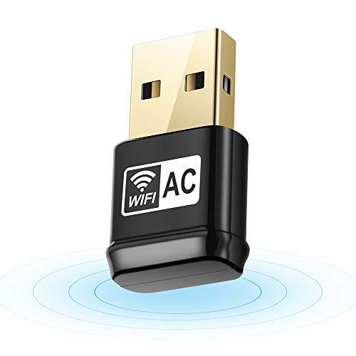 Autley USB WiFi Adapter, AC600Mbps Dual Band 2.4G / 5G 802.11ac USB Wireless Adapter Windows 10/8.1/7/XP/Vista Mac OS X 10.4-10.12