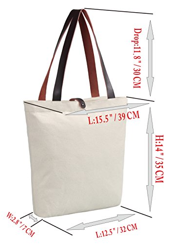 So'each Women's Crab Geometric Pattern Canvas Handbag Tote Shoulder Bag