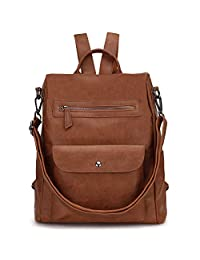 Backpack Purse for Women,Anti Theft Faux Leather Handbag for Girls VONXURY