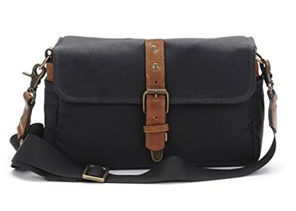 c7eedabf6e0 Amazon.com : ONA - The Bowery - Camera Messenger Bag - Black Waxed ...