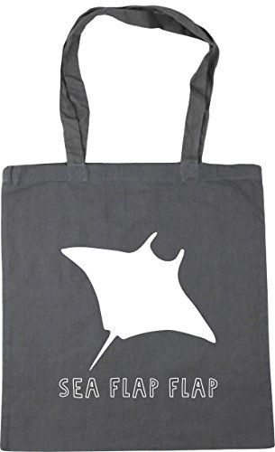 42cm Tote Graphite Bag Sea Gym x38cm flap stingray Beach Grey litres HippoWarehouse 10 flap Shopping ZzwIZO