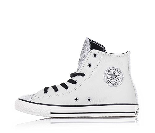 All Bianco Hi Star 655161c Side Converse Argento Zip Leather OPAgUAwq