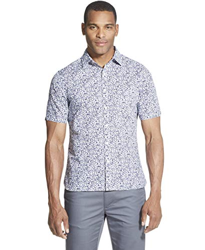 (Van Heusen Men's Slim Fit Never Tuck Short Sleeve Button Down Shirt, Barge, X-Large)