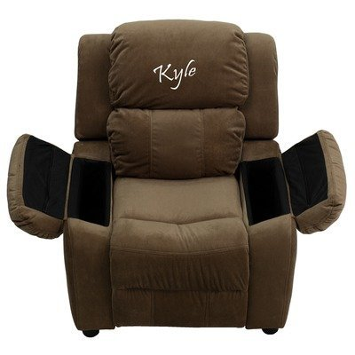 - Flash BT-7985-KID-MIC-BRN-EMB-GG EMB Brown MIC Kids Recliner