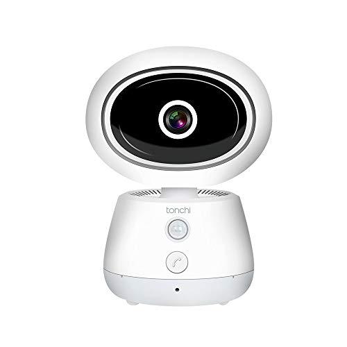 tonchi WiFi IP Camera, 1080P HD Wireless Home Security Camera Pan/Tilt, HD Baby Monitor Night Vision for Dog/Cat/Nanny/Pet Monitor