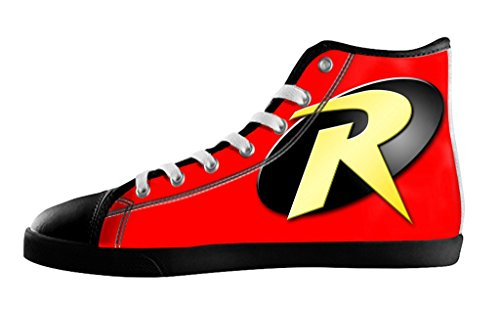 Movie Batman & Robin logo Men's High Top Fashion Canvas Shoes-8M(US) (Batman And Robin Shoes)