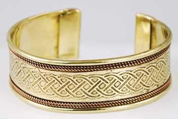 (Copper and Brass Celtic Knot (JB111K) -)