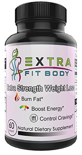 Extra Fit Body™ Advanced Weight Loss Supplement for Women (60 Pills) – Natural Fat Burner, Appetite Suppressant and Metabolism Booster – Safe Diet Targets Belly Fat and Reveal Toned Abs