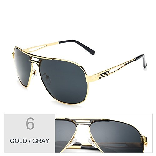 Espejo De Piloto Gafas Hombres Color De Aviador Polarizadas De Sol Gafas Azul Oculos Gafas Plata TIANLIANG04 Gold Revestimiento Gray Macho De Guía xPfnSqZnO