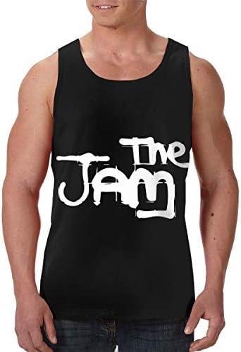 The Jam ザ・ジャム メンズ 印刷 袖なしク シャツ 筋肉シャツ レーニング ティーズ 吸汗速乾