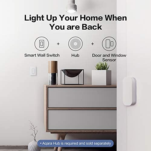 Aqara Smart Wall Switch (with Neutral, Double Rocker), Requires AQARA HUB, Zigbee Switch, Remote Control and Set Timer for Home Automation, Compatible with Alexa, Apple HomeKit, Google Assistant 41xEG6OmYCL