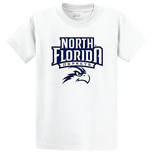 Campus Merchandise NCAA UNF Ospreys Short Sleeve Tee, Medium, White