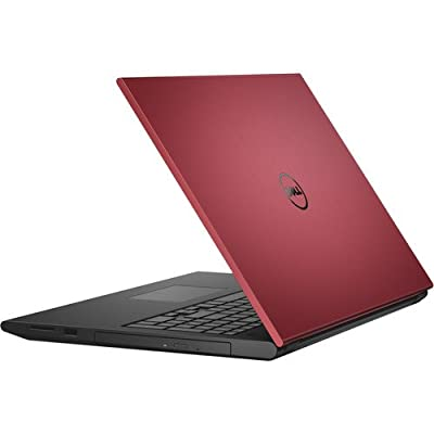 "Dell Inspiron 3000 Series 15.6"" Non-Touch Notebook (Red), Intel Core i3-4005U, 4GB Memory, 500 GB Hard Drive with Windows 10"
