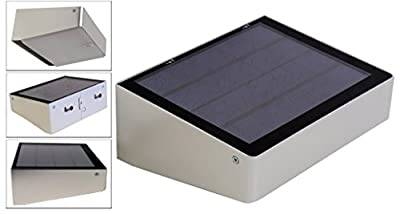 Solar Powered 53 LED Compact Self-Contained, Dusk to Dawn Lights, for Entrances Patios Walkways Outdoor Wall Path Landscape Garden Fence 180 Degree Coverage Lighting Lamp