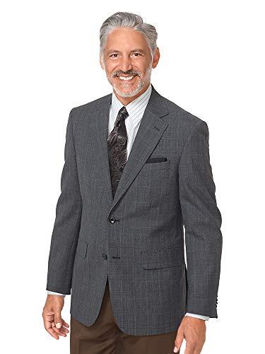 - Paul Fredrick Men's Wool Glen Plaid Sport Coat Navy 42 Long