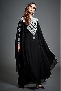 646ffecec3d Jywal London ZORA – Silver Embellished Black Kaftan Evening Wedding Maxi  Dress