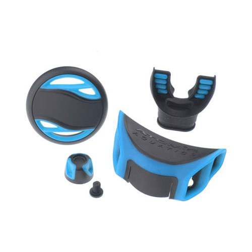 Atomic Aquatics Color Kit - B2 (cover, Adj. Knob & Exhaust Deflector) Blue