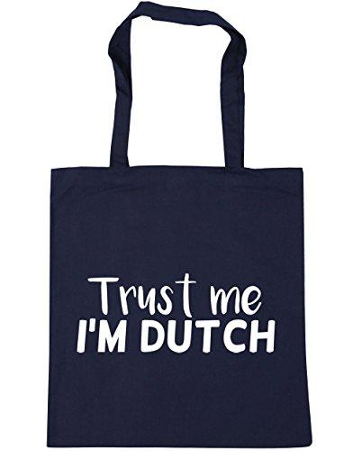 Navy Shopping French x38cm Beach 10 Gym Bag 42cm Dutch Tote Trust litres me I'm HippoWarehouse wSqOp6Xn