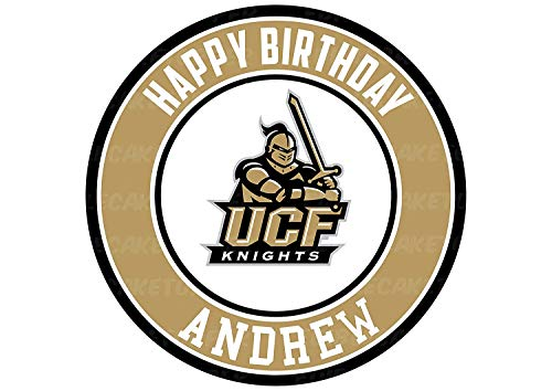 UCF Knights Edible Cake Topper Personalized Birthday 8