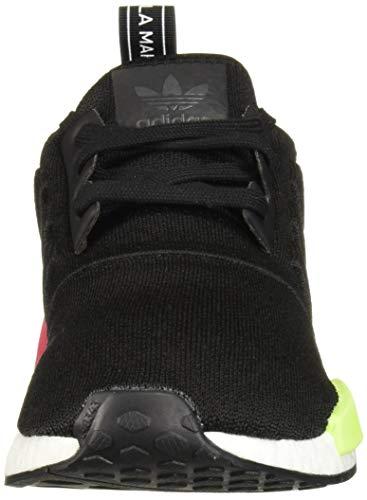 adidas Originals Men's NMD_R1 Running Shoe, Black/Black/Energy Pink, 13.5 M US