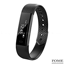 Fitness Tracker, ITOY&IGAME ID115 0.86 inch Bluetooth 4.0 Pedometer Bracelet Call Remind Sleep Monitor Calorie Counter Smart Wristband Water Resistance Smart Bracelet for iPhone Android Smartphone