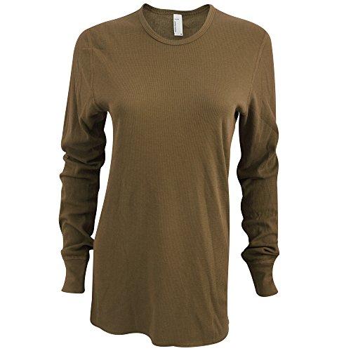 American Apparel - Camiseta de manga larga térmica unisex Militar