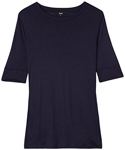 Find shirt Donna Lunga navy T Blu Girocollo qqFx6Bw