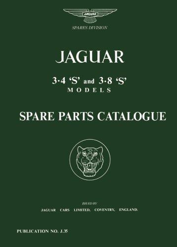 Jaguar 3.4S & 3.8S Parts Catalog (Official Parts Catalogue S) from Brand: Brooklands Books