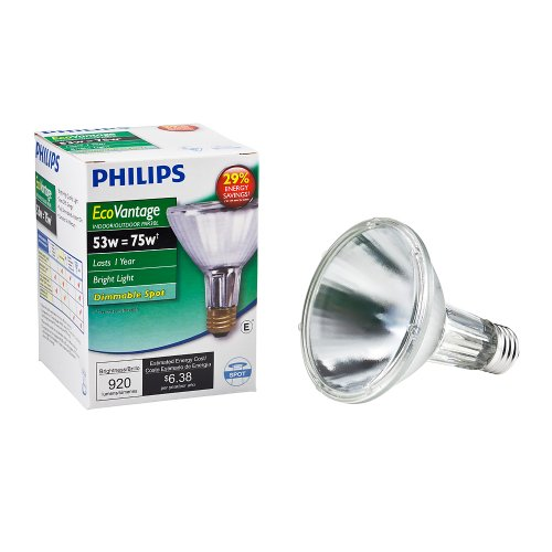 Philips 419564 Halogen PAR30L 75 Watt Equivalent 10 Degree Spot Light Bulb (Par16 Halogen Narrow Spot)