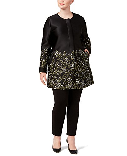 Alfani Plus Size Printed Scuba Swing Jacket (0X-Large) (Alfani Womens Jacket)